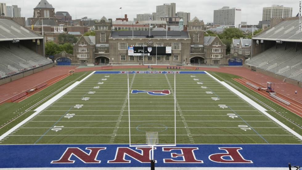 More impressive for its heritage than knockdown, drag-out football, UPenn's Franklin Field is the oldest college stadium still in use, dating back to 1895.