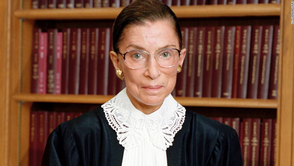 Justice Ruth Bader Ginsburg is the second woman to serve on the Supreme Court. Appointed by President Bill Clinton in 1993, she is a strong voice in the court's liberal minority.
