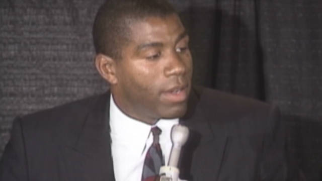 1991: Magic Johnson's HIV announcement