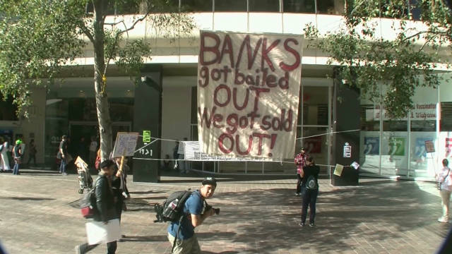 Occupy protesters carry out strike