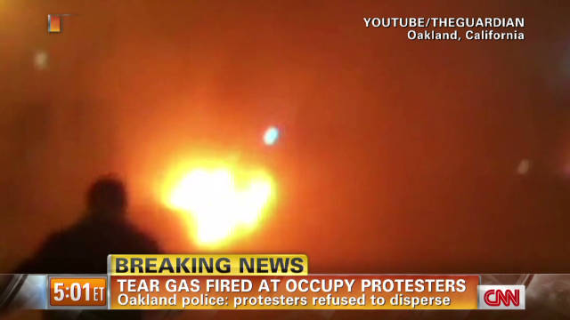 Tear gas fired at Oakland protesters