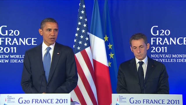 Obama, Sarkozy discuss debt crisis
