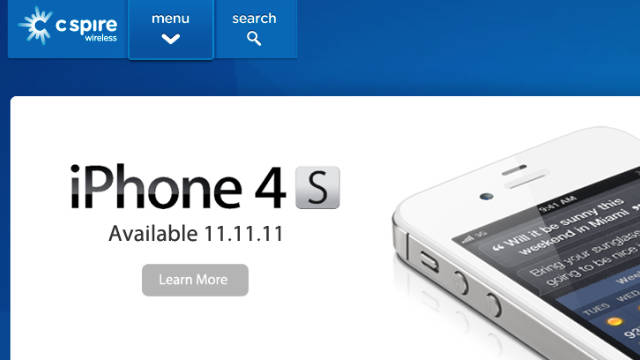 C Spire, a small regional cell carrier, will begin selling the iPhone on November 11.