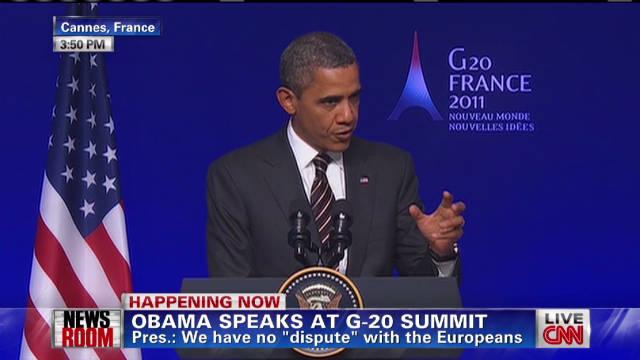 Obama: G-20 'ready to assist' Greece
