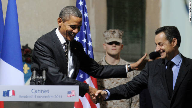 Obama and Sarkozy at the G20 summit last week in Cannes, France.