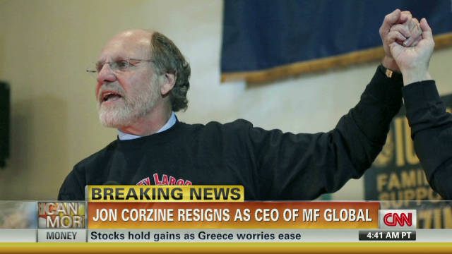 Jon Corzine resigns as MF Global CEO