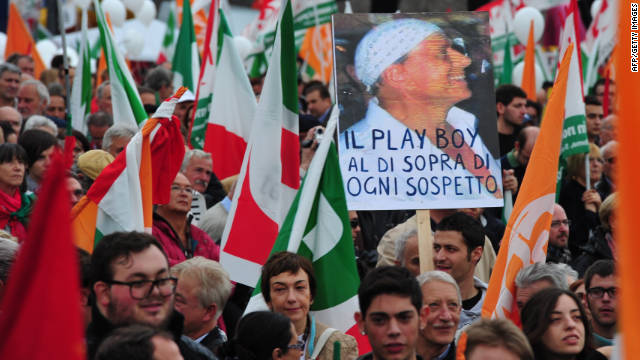 Italy protesters rally against Berlusconi