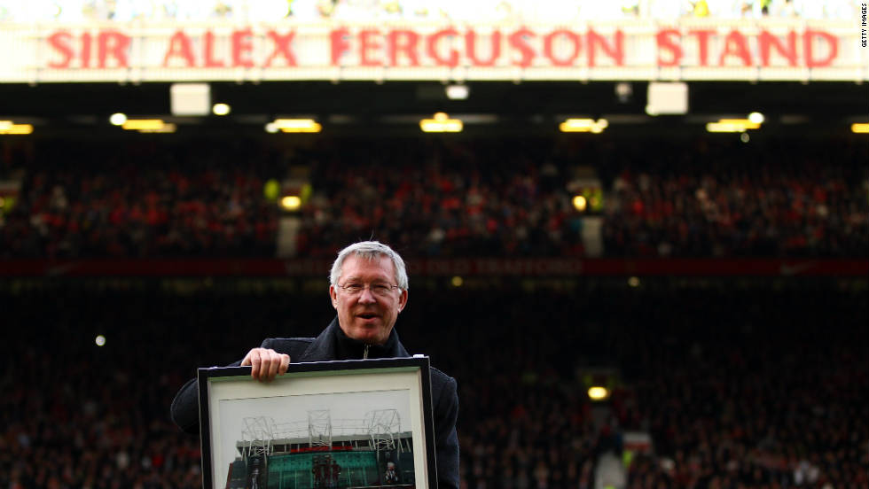 Manchester United renamed Old Trafford's North Stand in honor of legendary manager Alex Ferguson ahead of Saturday's match with Sunderland and his 25th anniversary at the club.