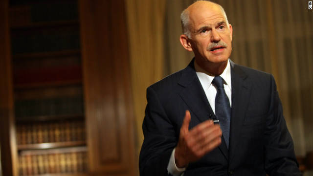 Prime Minister George Papandreou began steps to form a coalition government after narrowly winniing a vote of  confidence.