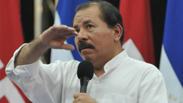 Nicaraguan President Daniel Ortega as pictured in Managua on October 31.