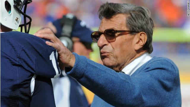 "Penn State head football coach Joe Paterno said he is ""deeply saddened"" about the sex abuse allegations."