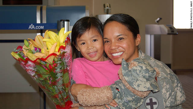 Kristin Choe's mother, U.S. Navy Lt. Florence Bacong Choe, was killed in Afghanistan two years ago.