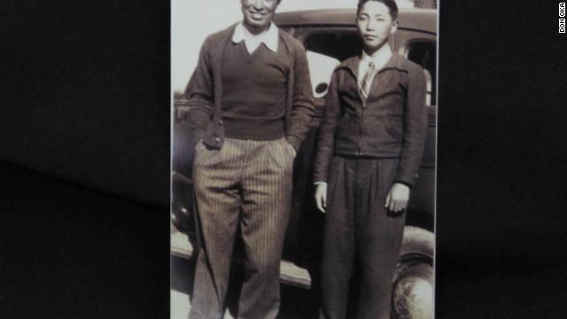 Masao Oka and Don Oka after returning from boot camp.