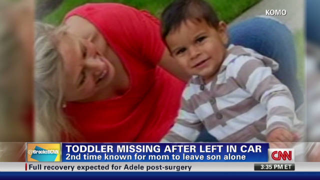 Toddler missing after being left in car