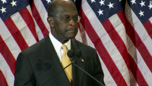 Herman Cain denies Tuesday that he acted inappropriately with female employees as head of the Nation Restaurant Association.