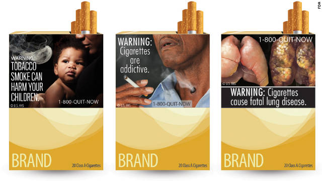 At least 43 other countries require cigarette box warnings like these proposed by the FDA.