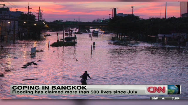 Worker: Water near heart of Bangkok