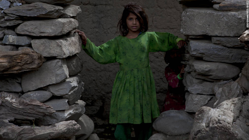 Part of the 2-27's mission has been to build schools throughout the Kunar Province. This girl in Nishigam has been out of class for three days. The roof collapsed on her school, held in a villager's home.