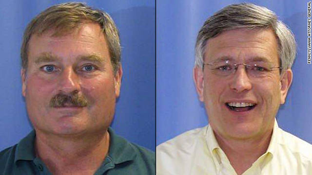 Gary Schultz, left, and Timothy Curley have been charged with perjury and failure to report suspected abuse.