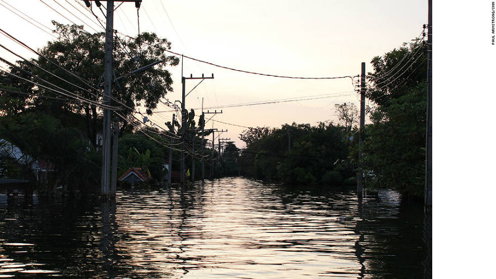Residents across much of northern Bangkok have lived with water levels like this for almost a month.