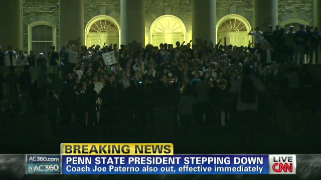 Students react to Paterno firing