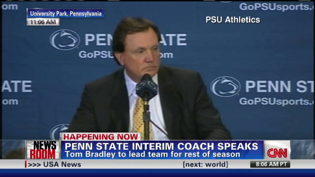Bradley named interim Penn State coach