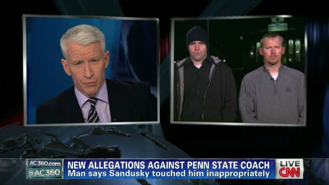 Man says he was touched by Sandusky