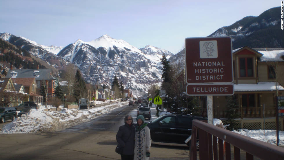 "Nelson Rhodus had nothing but good things to say about his experience in Telluride and shared this photo of his family. ""Telluride not only is a fantastic skiing/snowboarding destination, but has quite historic significance as well."""
