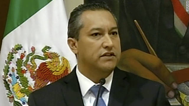 Mexican Interior Minister Jose Francisco Blake Mora from video shot October 17, 2011.