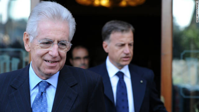Former EU commissioner Mario Monti is favorite to become Italy's next prime minister.