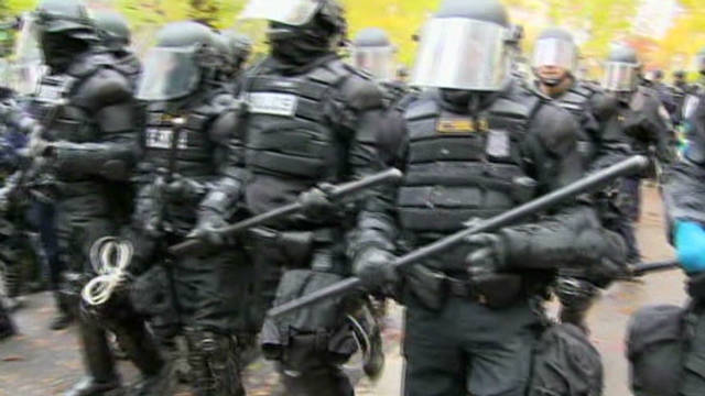 Police break up Occupy Portland protests