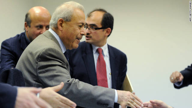 Syrian National Council chairman Burhan Ghalioun  attends a press conference in Moscow on November 15.