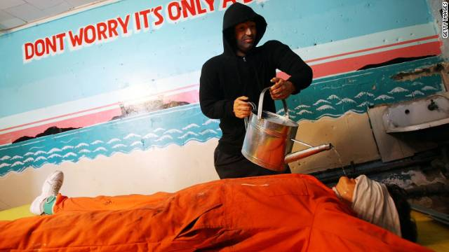 """Steve Powers' installation """"Waterboard Thrill Ride"""" was at the Coney Island arcade in Brooklyn, New York, in 2008."""