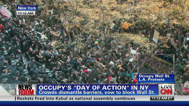 Occupy's 'Day of Action' chaotic