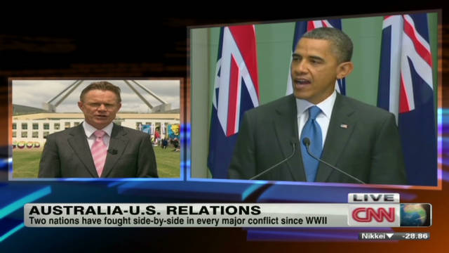 U.S., Australia strengthening ties