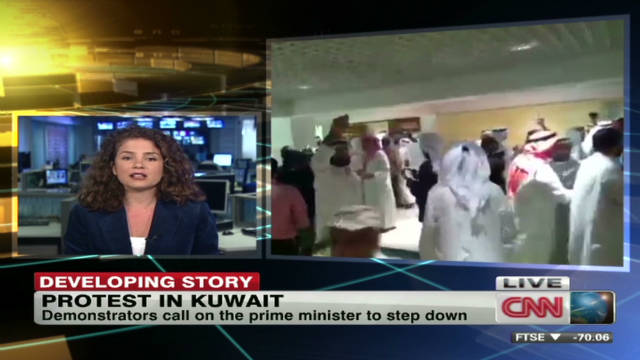 Protesters demand change in Kuwait