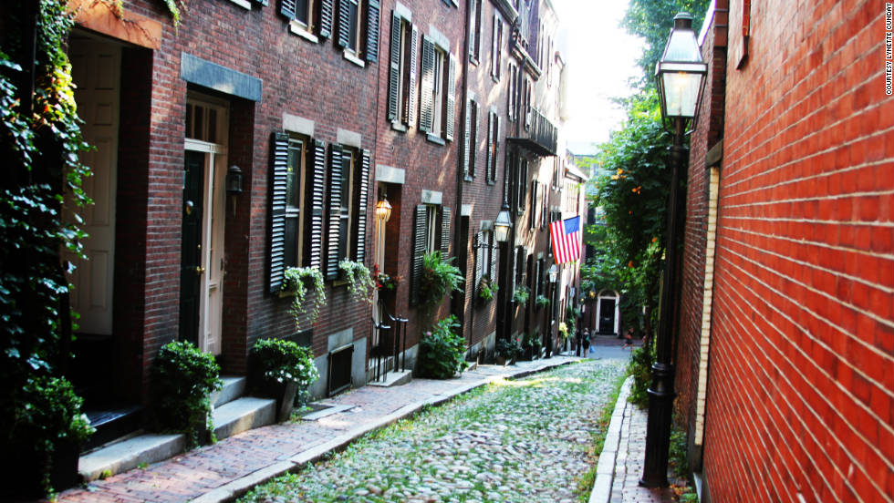 "Lynette Cunday captured this serene scene on Acorn Street's cobblestone expanse in Beacon Hill. ""The city is so packed with little travel gems that if you do get a little lost you stumble upon a quiet park or busy market with fresh fruit that it becomes a memory worth the detour."""