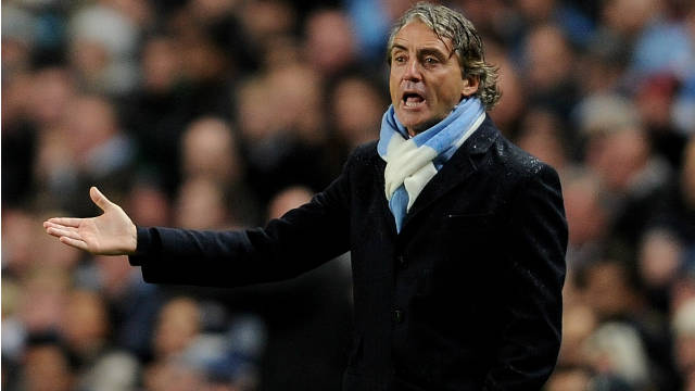 City manager Roberto Mancini has led to the club to the top of the Premier League table this season.