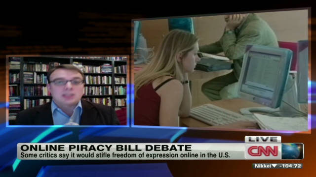 Online piracy bill debate
