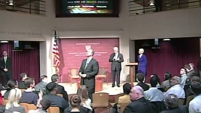 Protesters interrupt Gingrich at Harvard