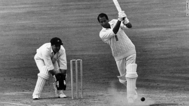 Basil D'Oliveira batting for England against Australia at the Oval in London in 1968.