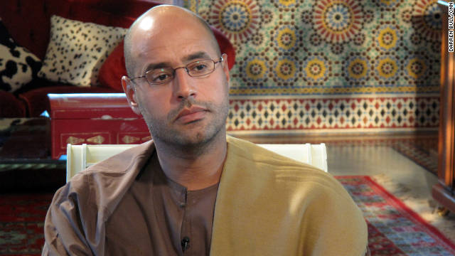 Saif Gadhafi speaks with CNN's Nic Robertson in September, 2009.