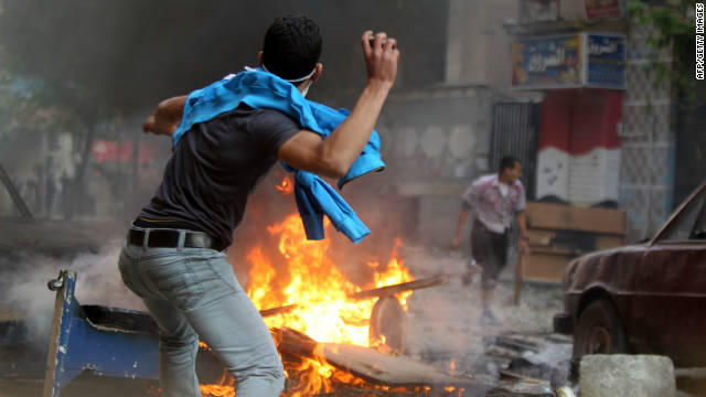 Clashes have broken out in Cairo following growing public anger at the pace of change in Egypt since the revolution.