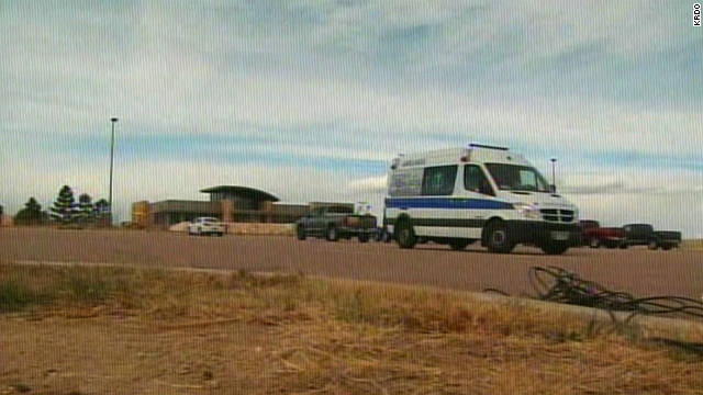 Schriever Air Force Base in Colorado Springs was evacuated Monday after a gunman barricaded himself inside.