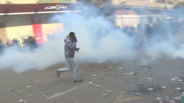 Walking through Tahrir Square