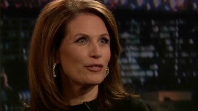 Bachmann jokes about candidates