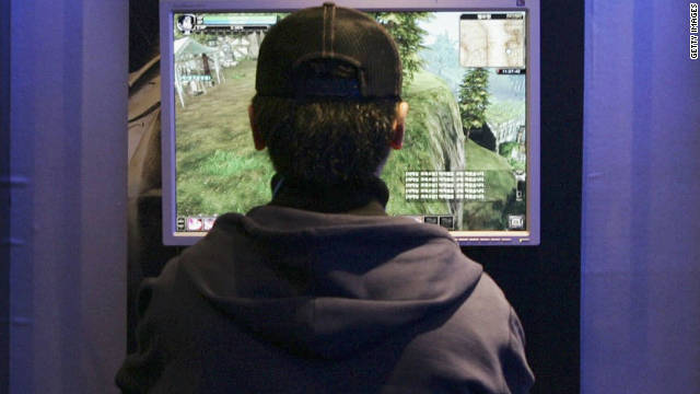 The majority of Internet addicts are consumed by playing games, experts say.