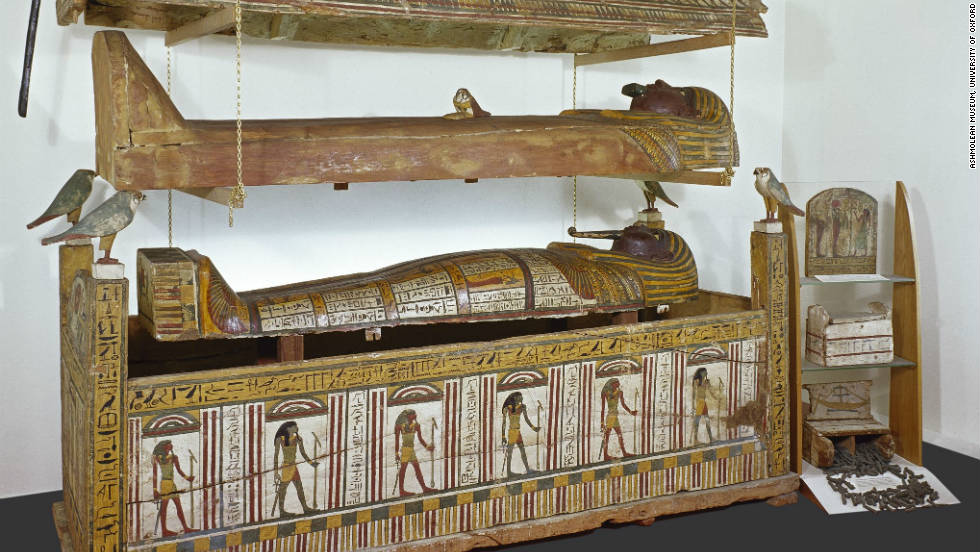 Djeddjehutyiuefankh was buried in three coffins that are almost 3,000 years old.