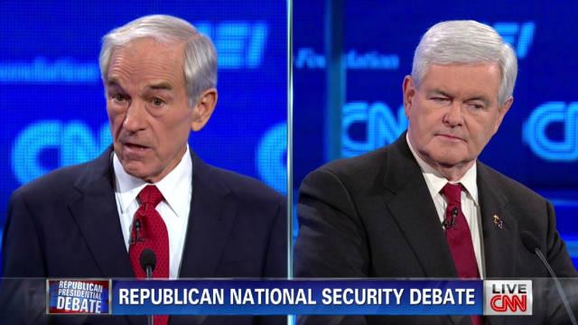 Paul, Gingrich spar over Patriot Act