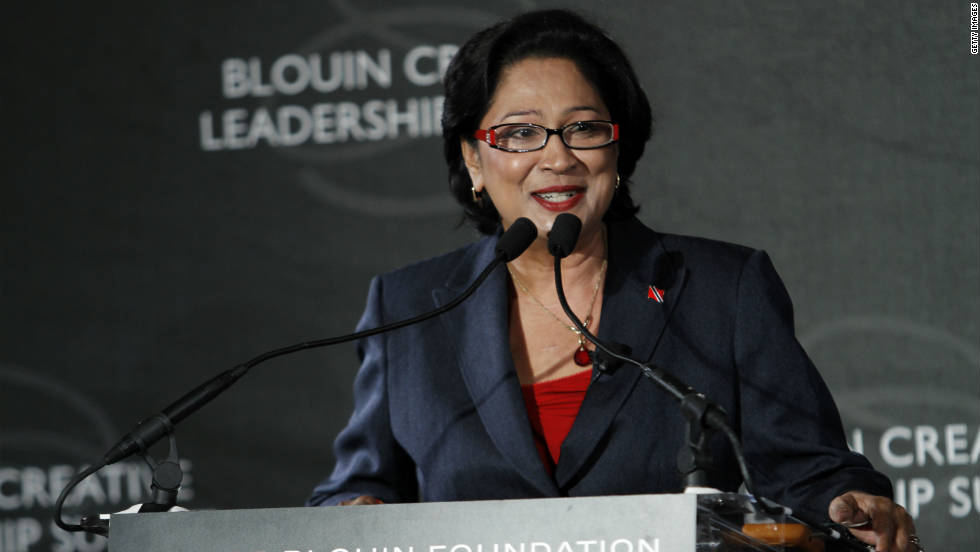 Trinidad and Tobago's Prime Minister Kamla Persad-Bissessa has held the office since 2010.